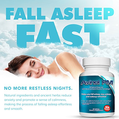 Avinol PM Bundle with Alpranax - Natural Sleep Aid with Melatonin and 5-HTP + Herbal Relaxation and Stress Relief Supplement - Reduce Stress and Get Deep Restful Sleep - (2 Items) by Avinol PM and Alpranax (Image #1)