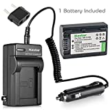 Kastar Battery 1 Pack + Charger for Sony NP-FV30 NP-FV40 NP-FV50 & Sony Handycam HDR-CX380 430V 900 580V 760V HDR-PJ540 650V HDR-PV710V 790V 810 HDR-TD30V FDR-AX100 DCR-SR DCR-SX HDR-CX HDR-XR Series