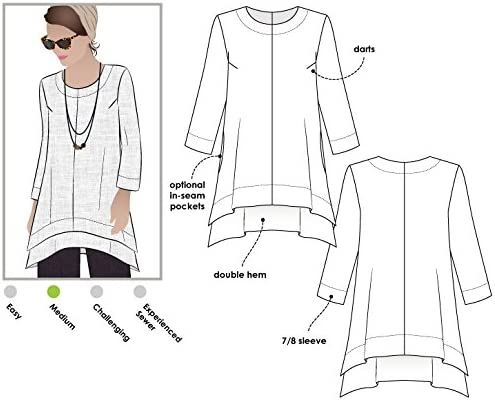Daisy Designer Pant and Tunic Outfit Style Arc Sewing Pattern Sizes 18-30 - Click for Other