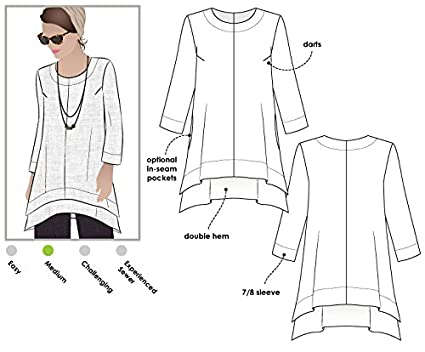 Estilo del arco de costura - Daisy funda bragas y túnica conjunto, Sizes 04-