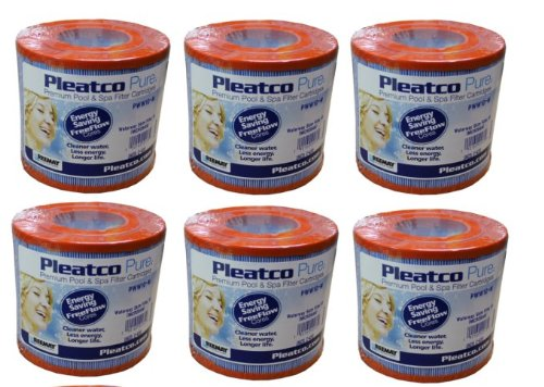6 PACK PLEATCO PWW10-M Microban Hot Tub/Spa Skim Filter Pool C-4310 for Waterway