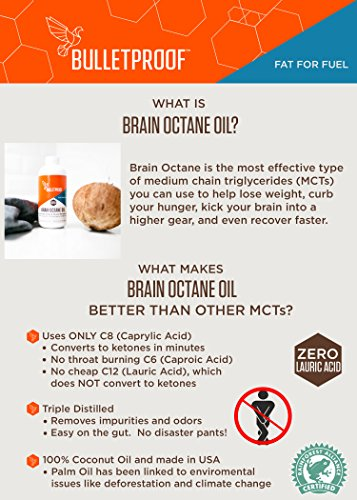 Bulletproof Brain Octane MCT Oil, Perfect for Keto and Paleo Diet, 100% Non-GMO Premium C8 Oil, Ketogenic Friendly, Responsibly Sourced from Coconuts Only, Made in the USA (2-Pack of 16oz) by Bulletproof (Image #3)