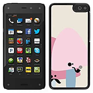 Stuss Case / Funda Carcasa protectora - Cute Moustache Mushrooms - Amazon Fire Phone