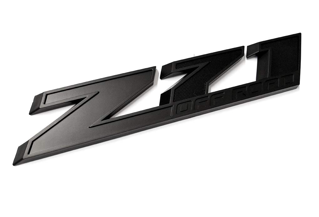 2pcs10 Inch Big Matte Black Z71 Off Road Emblems Replacement for GMC Chevy Silverado Sierra Suburban 2500hd Emzscar