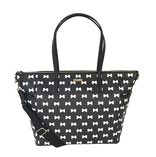 Kate Spade Grant Street Adaira Baby Bag, Black/Cream Bows