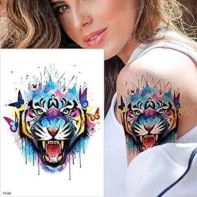HXMAN 5 Pcs Tatuaje Tigre Temporal Acuarela Tatuaje Pegatina ...