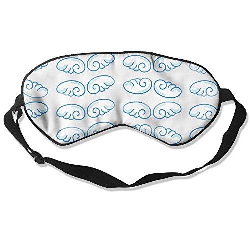 WUGOU Sleep Eye Mask Blue Cloud Lightweight Soft Blindfold Adjustable Head Strap Eyeshade Travel -