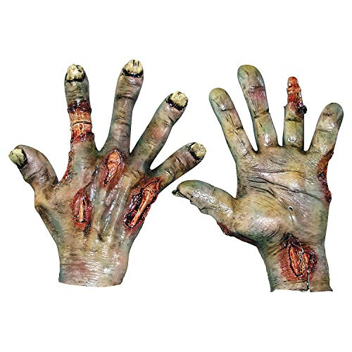 Fun Express - Zombie Rotted Latex Hands for Halloween - Apparel Accessories - Costume Accessories - Costume Props - Halloween - 1 -