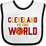 Inktastic - Cleveland vs. the World with basketball Baby Bib White/Black