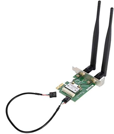 Fosa Gigabit PCI Express Network Card Adapter,AR5B22 Dual Band 300M Wireless PCI-E WiFi Card Adapter Bluetooth 4.0 Network Card for Desktop