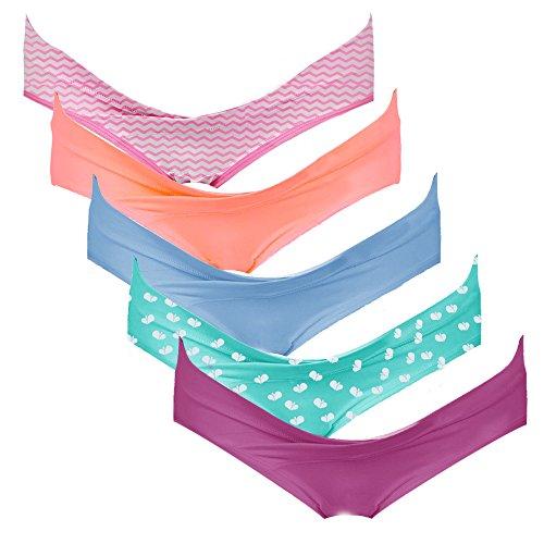 Slip Premaman Gravidanza Portal Intimate set Di Vibrance Da 5 Vita A In Cotone Intimo Bassa Bikini qzwft0