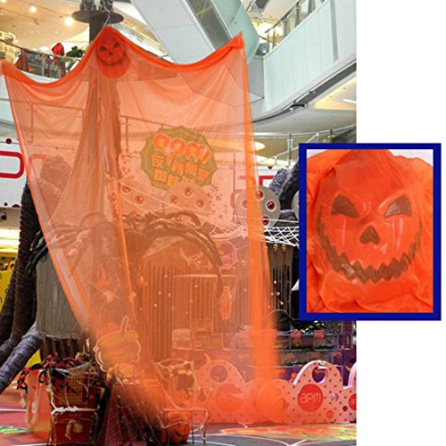 Pinji Halloween Hanging Ghost Scary Prop Skeleton Flying Ghost Decorations for Outdoor Yard Indoor Bar Party Decor Orange by Pinji (Image #2)