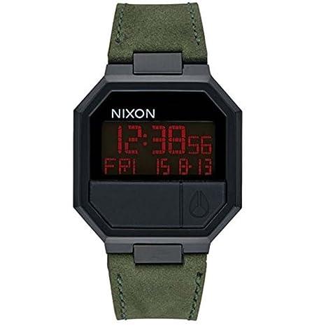 Nixon Reloj Digital Mecánico Japonés Unisex con Correa de Piel – A944-032_Black