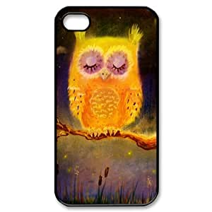 iPhone 4/4sCovers Hard Back Protective-Cute Owl Always Love you Coffee Owl Case Perfect as Christmas gift(5)