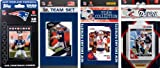 NFL New England Patriots 4 Different Licensed Trading Card Team Sets