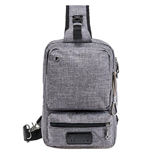 Riavika Sling Bag Cross Body Bag Shoulder Backpack for Men & Women Travel Outdoor