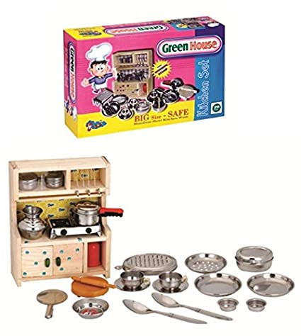 Buy Halo Nation Kitchen Set Indian Non Toxic With Wooden Stand And