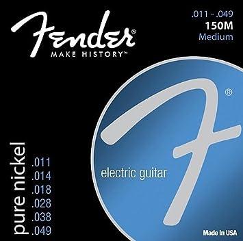 Fender 150 m níquel cuerdas para guitarra eléctrica 11 - 49 3 Sets: Amazon.es: Instrumentos musicales