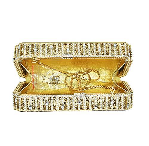 Womens Pour En Dames Soirée D'enveloppe De Mariage Pochette Sac Or Belle Kokr Cristal Brillant Forme À Main tqYwwTZ