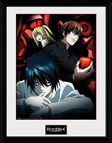 "Price comparison product image Gb Eye 16 x 12-inch ""death Note,  Light L And Misa"" Framed Photograph"
