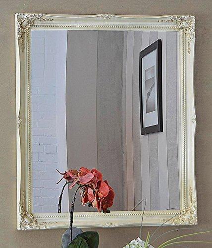 CREAM SHABBY CHIC ANTIQUE STYLE MIRROR - 24 X 28 OVERALL SIZE (65cm X 75cm) by Shabby Chic Mirrors by Shabby Chic Mirrors