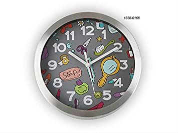 Versa - Horloge murale fantaisie grise Ma Salle de bain: Amazon.fr ...