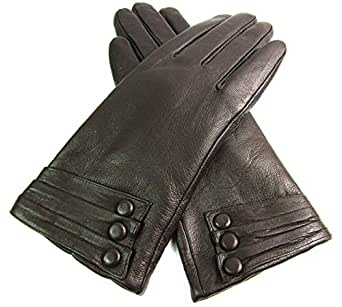 Ladies Leather Gloves Fully Lined (Small Brown)