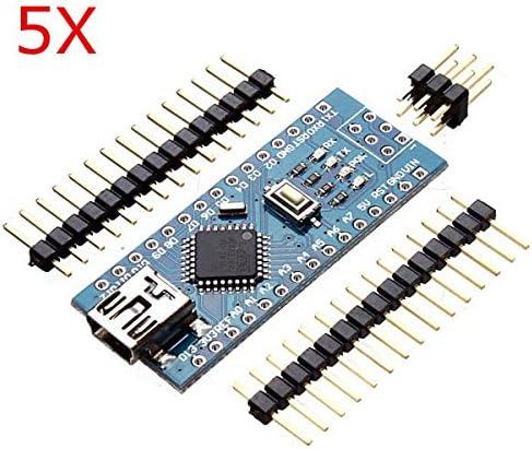 Calli 5pcs Nano ATmega328P Placa controladora v3 para Arduino ...
