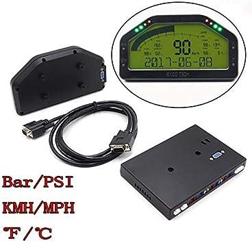 SODIAL Kit Display Sensore Cruscotto Universale Display da 12 V Cruscotto Multifunzione per Cruscotto Auto DO908
