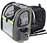 Pecute Dog Carrier Backpack Pet Backpack with Ventilated Breathable Mesh Portable Pet Expandable Bag for Puppy Dogs and Cats, Easy-Fit for Traveling Hiking Camping, Gray (Maximum Load 20 Lbs)