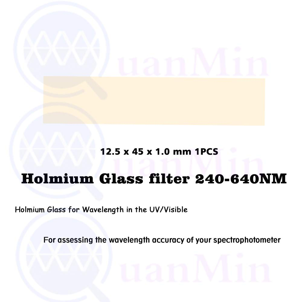 Quanmin 12.5mmx45mmx1.0 mm 240-640nm Holmium Glass Filter for Wavelength in The UV/Visible and assessing The wavelength Accuracy of Your Spectrophotometer by Quanmin (Image #3)
