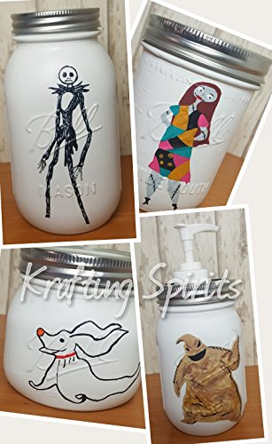 Nightmare Before Christmas Mason Jar Bathroom