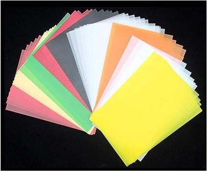 Amaoma Papel de Calco,Papel de seda transparente multicolor10 cm x ...