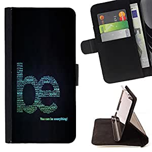 BullDog Case - FOR/LG OPTIMUS L90 / - / cool word art creative motivating /- Monedero de cuero de la PU Llevar cubierta de la caja con el ID Credit Card Slots Flip funda de cuer