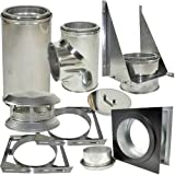 Shasta Vent ''Thru-The-Wall Kit'' for Class A, All Fuel, Double Wall, Insulated, SS Shasta Vent 8'' Chimney Systems