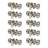 Probrico Bed/Bath Room Door Knobs and Handles in Satin Nickel Wholesale Privacy Door Knob Locks (10Pack)