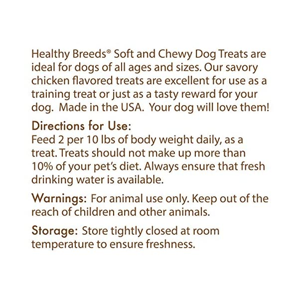 Healthy Breeds Healthy Dog Treats for Utonagan - Over 200 Breeds - Tasty Training Chicken Flavored Snack - Small Medium or Large Pets - 7 oz 2