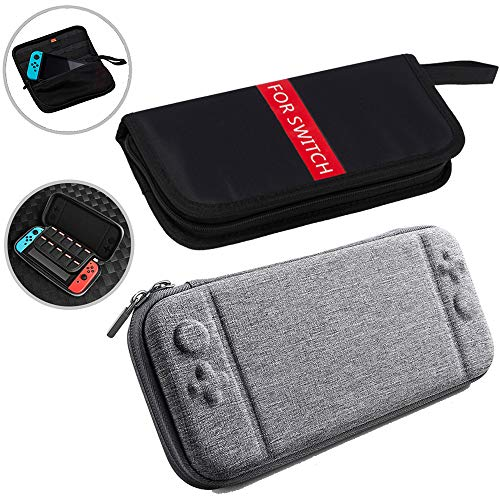 Nintendo Switch Travel Carrying Case 2 Pack - With 10&16 Games Cartridges Protective Hard Shell Travel Carrying Case Pouch for Nintendo Switch Console & Accessories