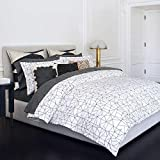 Kelly Wearstler Haze King Size Duvet Cover in Shell