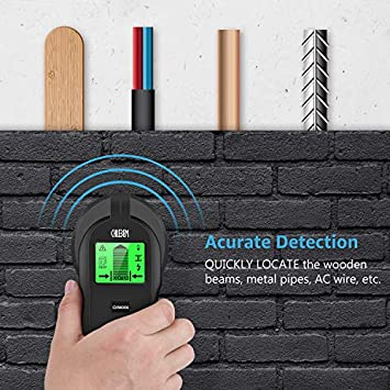 Stud Finder Wall Scanner – 4 in 1 Electronic Center Finding Stud Finders Sensor Wall Finder Detector, with Digital LCD Display Sound Warning for Wood Metal AC Wires Studs Detection