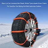 Walmeck 20pcs Lot Car Universal Mini Plastic Winter Tyres wheels Snow Chains For Cars/Suv Car-Styling Anti-Skid Autocross Outdoor