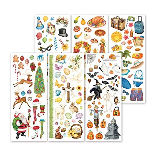 (Holiday Classic Stickers Six Sheets of Hand-Painted Holiday Stickers by Creative Memories)