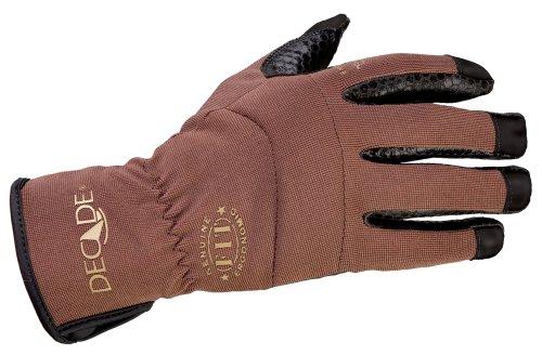 Glove Walnut Leather - Decade 49963 Ergonomic FIT System Slip-On Work Gloves, Walnut Brown Large