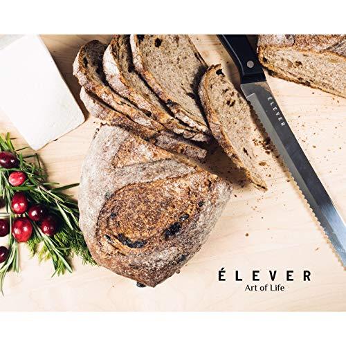 Elever Knife Set - Kitchen Knife Set with Block, 13 Kitchen Knives with Knife Sharpener, Chef Knife, Kitchen Scissors, Steak Knives. Modern Knives Kitchen Set, House Kitchen Decor, Cutlery Set Gift by Elever (Image #5)