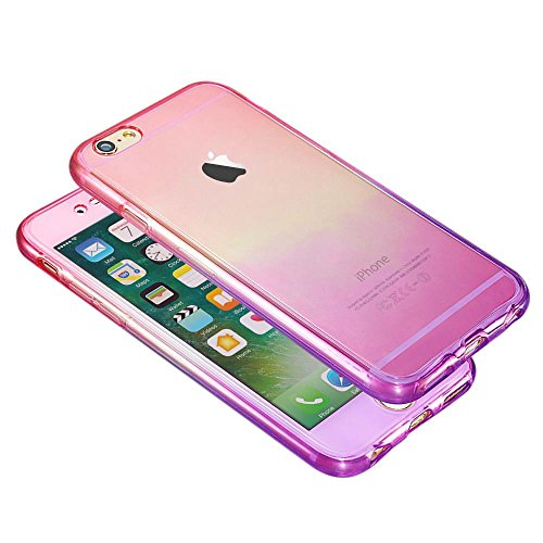 Apple iPhone 7 Caso Elegante - Oro Rosa Shockproof 360° Cristal Claro Caso Gel Para Apple iPhone 7 - thinkmobile Rosa / Viola