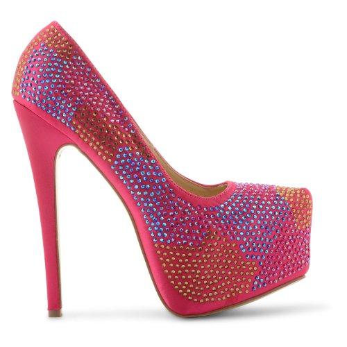 para Zapatos vestir fucsia de rosa mujer Footwear Sensation WqF67O
