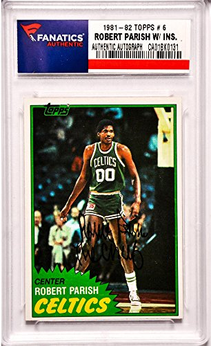 Boston Celtics Autographs (Robert Parish Boston Celtics Autographed 1981-82 Topps #6 Card with The Chief Inscription - Fanatics Authentic)
