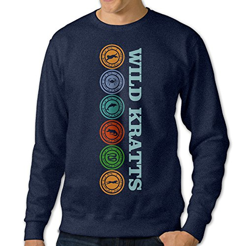 [NUBIA Men's Creature Power Long Sleeve Sweater Navy 3X] (Flash Drive Costume)