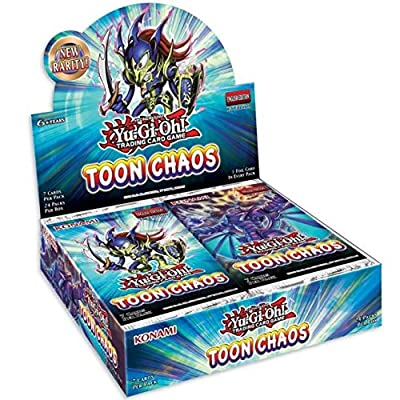 Yugioh TCG Toon Chaos Booster Box - 24 Packs of 7 Cards: Toys & Games