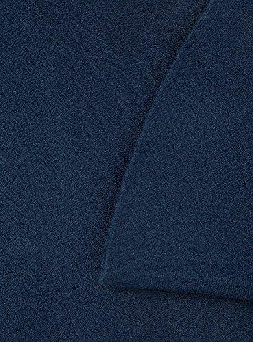 oodji Ultra Mujer Falda Acampanada de Punto Azul (7900N)